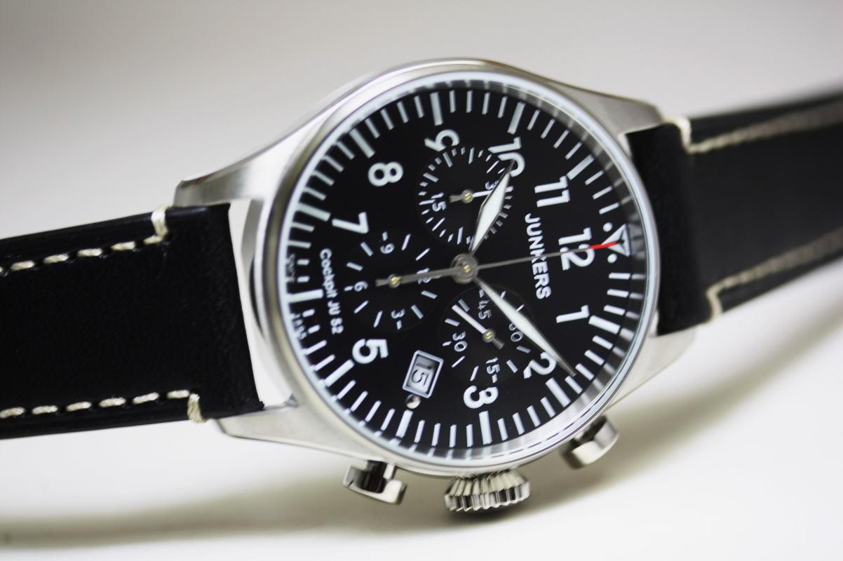 ドイツのJunkers【ユンカース】Cockpit JU52コックピットJu52シリーズ!クォーツ・クロノグラフ腕時計/ミリタリーウォッチ/メーカー希望小売価格47,300円/送料無料