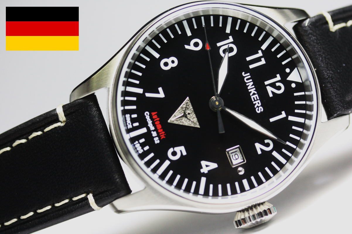 ドイツのJunkers【ユンカース】COCKPIT【コックピット】JU52自動巻き腕時計/正規代理店商品
