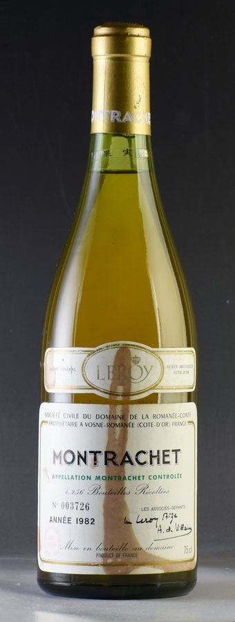 [1982] モンラッシェMontrachetドメーヌ・ド・ラ・ロマネ・コンティ DRC※ラベル汚れ