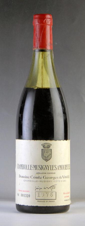 [1976] ヴォギュエ シャンボール・ミュジニー・レ・ザムルーズ ※ラベル汚れ、液漏れの形跡あり