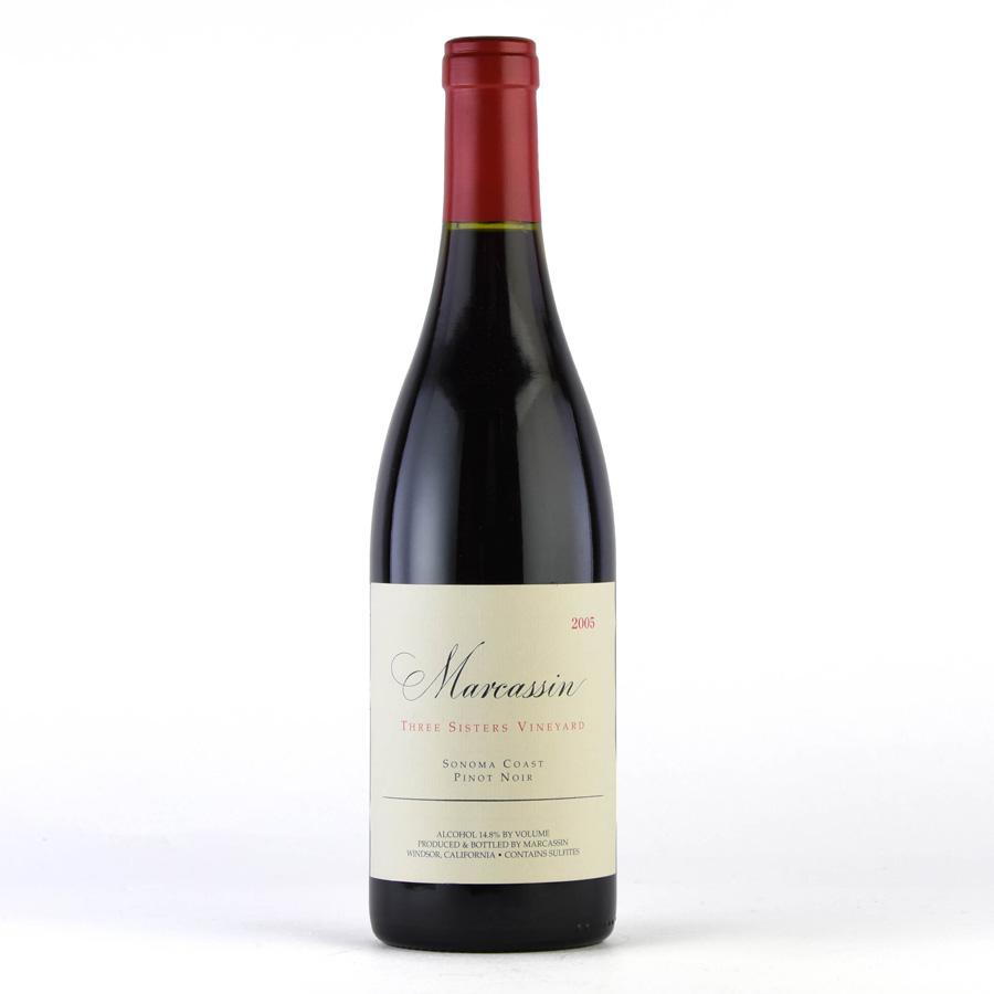 [2005] ピノ・ノワール スリー・シスターズ・ヴィンヤードマーカッシン 750mlPinot Noir Three Sisters Vineyard Marcassin