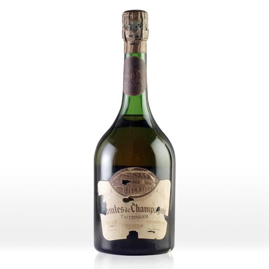 [1961] テタンジェ・コント・ド・シャンパーニュ ブラン・ド・ブランTaittinger Comtes de Champagne Blanc de Blancs 750ml