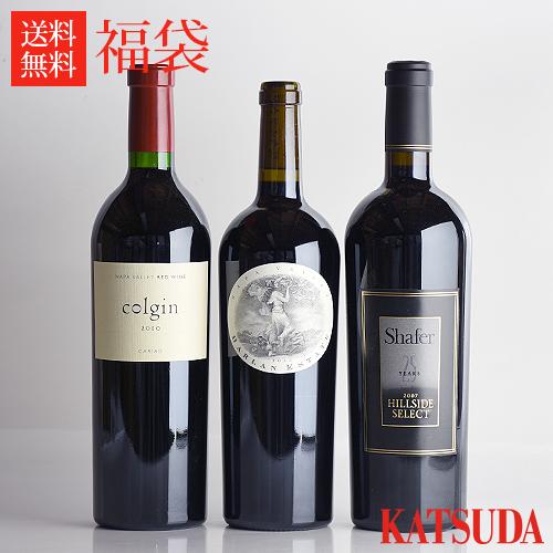福袋 ワイン カリフォルニア★パーカー100点カルト3本福袋