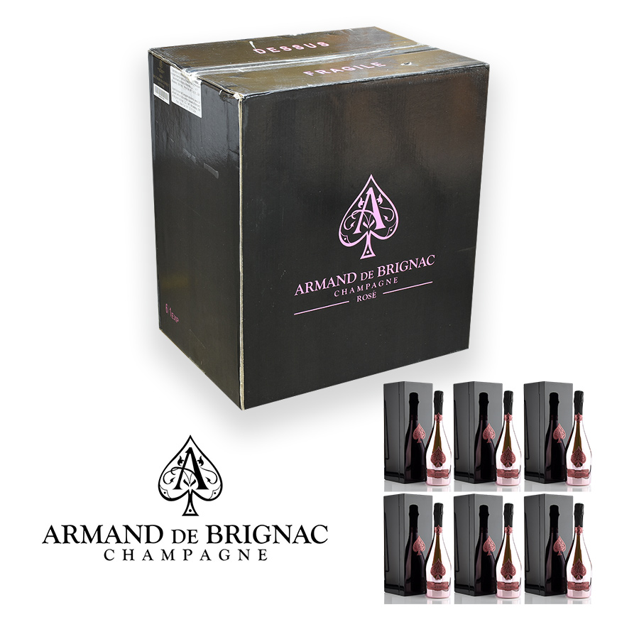 アルマンド ロゼ NV ギフトボックス 1ケース 6本 ピンク アルマンド・ロゼ アルマン・ド・ブリニャック アルマンドブリニャック シャンパン