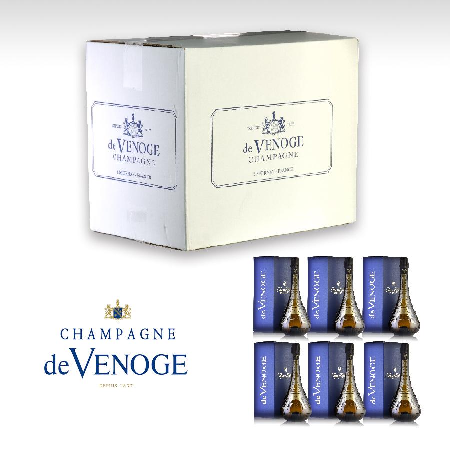 ドゥ ヴノージュ プランス トゥール エッフェル NV ギフトボックス 1ケース 6本 シャンパン シャンパーニュ