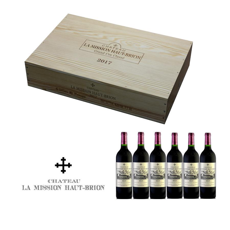 シャトー ラ ミッション オー ブリオン ルージュ 2017 蔵出し 1ケース 6本 オリジナル木箱入り フランス ボルドー 赤ワイン