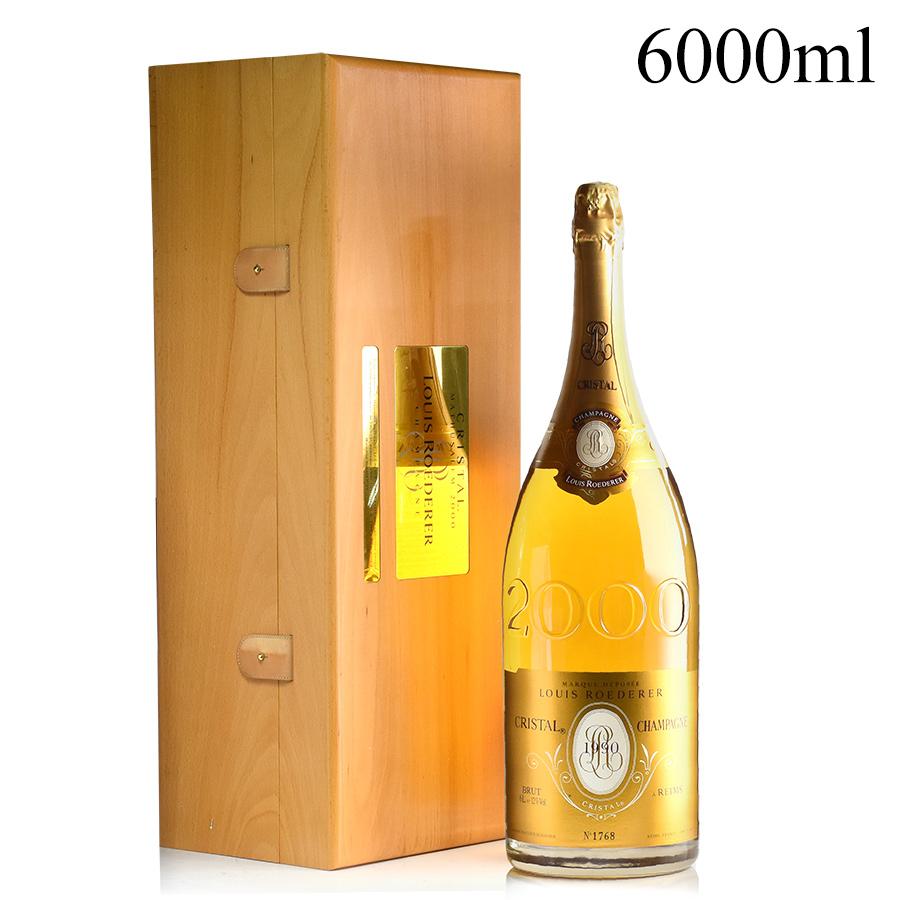 ルイ ロデレール クリスタル 2000年記念ボトル 1990 マチュザレム 6000ml ルイロデレール ルイ・ロデレール シャンパン シャンパーニュ 新入荷[のこり1本]