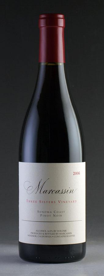 [2006] ピノ・ノワール スリー・シスターズ・ヴィンヤードマーカッシン 750mlPinot Noir Three Sisters Vineyard Marcassin[のこり1本]