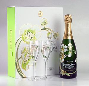 Perrier-jouet Belle Epoque ブランフル glass 2 leg set gift boxed