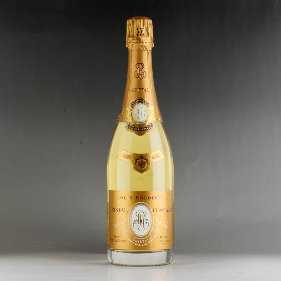 [2007] ルイ・ロデレール クリスタル・ブリュット【正規品】 【箱なし】 ※ボトル、ラベルにカビ付着Louis Roederer Cristal Brut 750ml