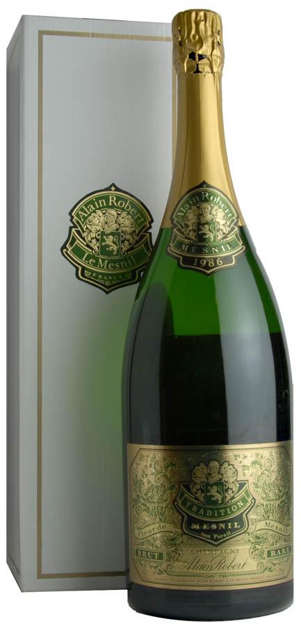 [1986] Menil tradition Magnum Alan Robert Champagne Menil Tradition 1500ml 1986 Alain Robert