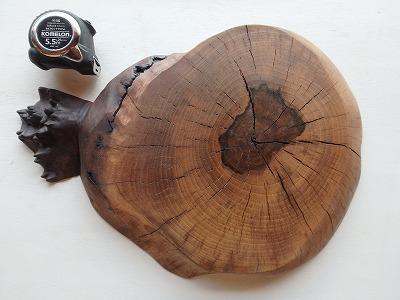 クラロウォルナット コブ 輪切り オイル仕上げ【送料無料】 木材 無垢 材木
