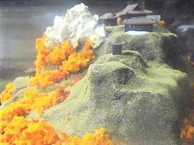 城ミニ[完成品] 海ノ口城 ケース付き ミニサイズ 風林火山 武田信玄ゆかりの城 日本の城 お城 ジオラマ 模型 プラモデル 城郭模型