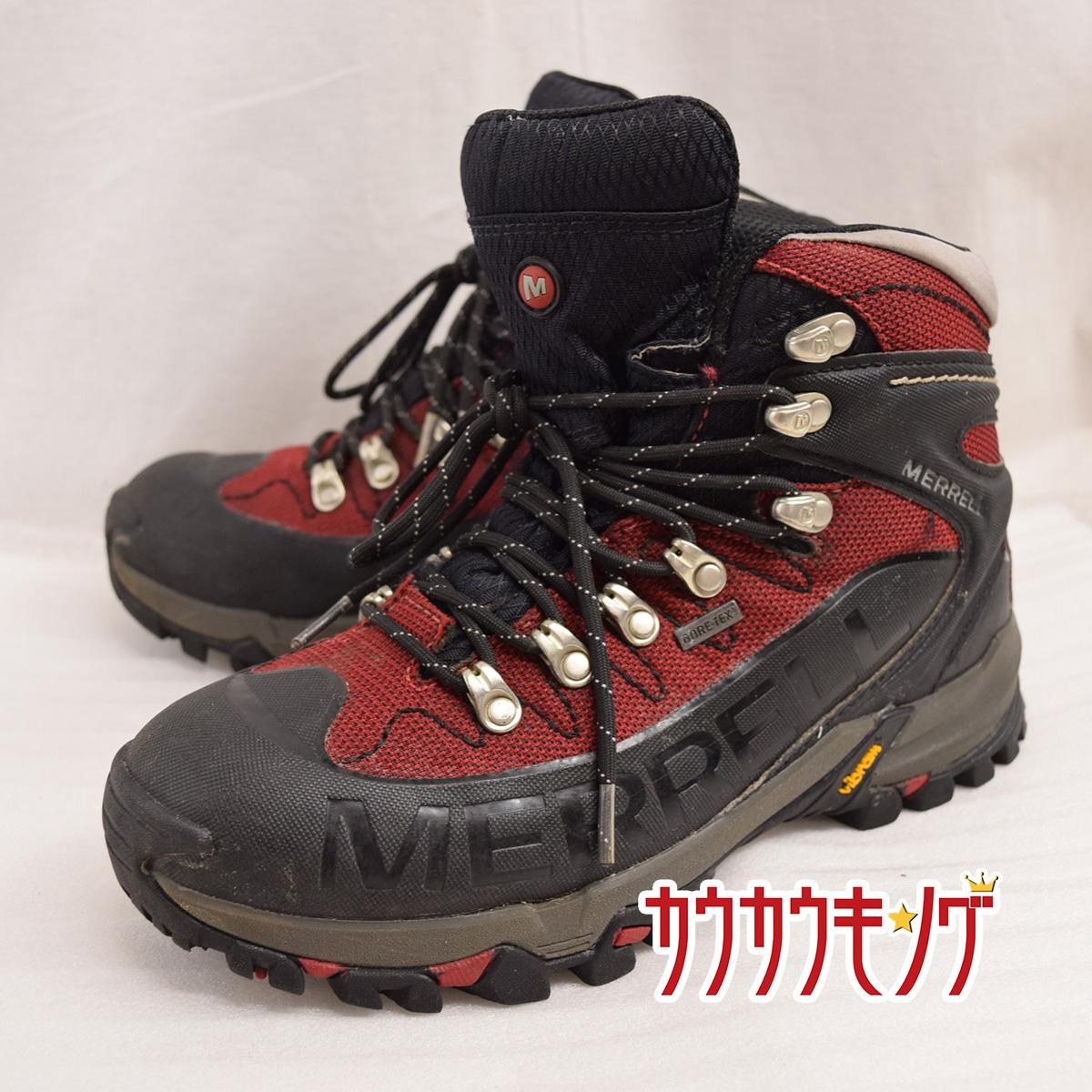 【中古】MERRELL/メレル OUTBOUND MID GORE-TEX J50901 UK7.5(26.0cm) レッド 登山/アウトドア