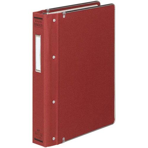 コクヨ バインダーMP B5縦200枚収容 総布貼 赤4冊