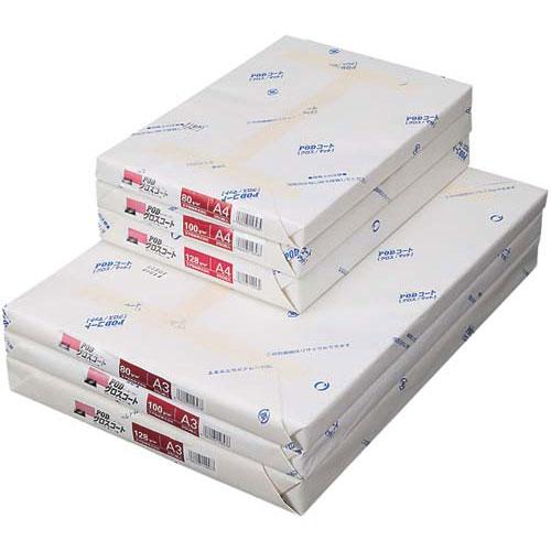 王子製紙 PODグロスコート紙<128>A3 250枚×4冊関連ワード【コピー用紙 印刷用紙 プリンター用紙】