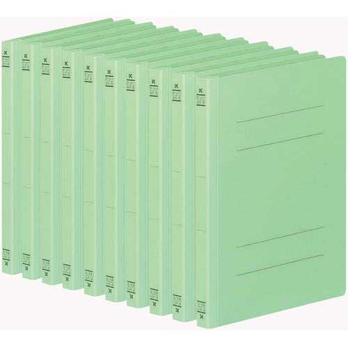 商品合計金額3000円 税込 以上送料無料 コクヨ フラットファイルV樹脂とじ具 B5縦 緑 10冊 新作 大人気 10冊 B5縦 即納送料無料 文具 文房具 B5サイズ 事務用品 KOKUYO