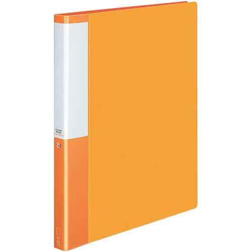 コクヨ クリヤーBポジティ替紙式橙A4縦背幅27mm10冊