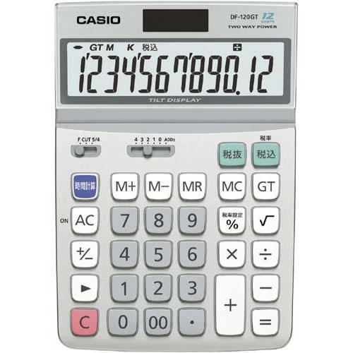 ★商品合計金額3000円(税込)以上送料無料★カシオ 電卓 エコ デスク型 DF-120GT-N CASIO カシオ 電卓 エコ デスク型 DF-120GT-N