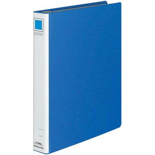 コクヨ 4穴リングファイルシングルレバー青A4縦45mm20冊