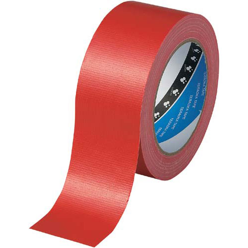 商品合計金額3000円 税込 男女兼用 以上送料無料 ガムテープ カラー布テープ 激安通販販売 梱包資材 No.1535 レッド 赤 寺岡製作所 1巻 梱包テープ