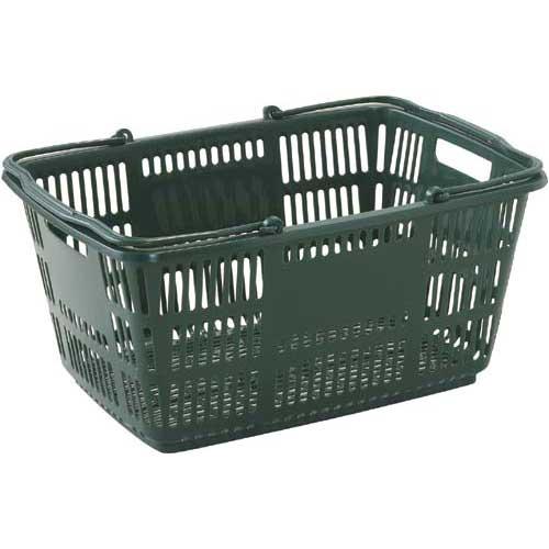 ショッピングバスケット33L Dグリーン 25個入