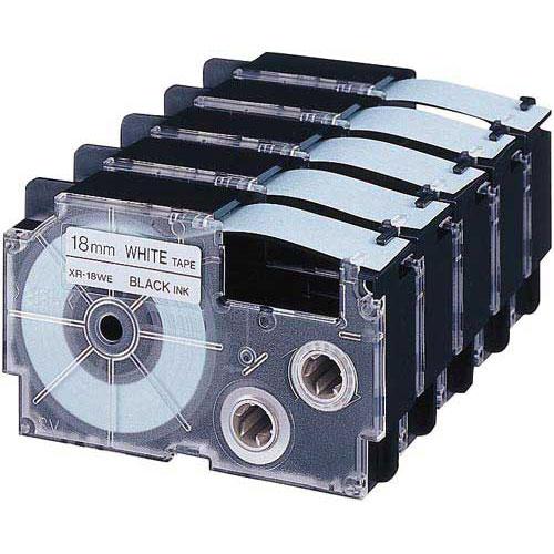 カシオ ネームランド 白色テープ 18mm 黒文字 10個
