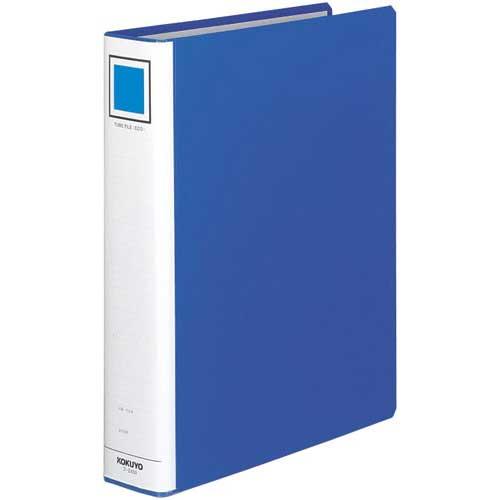 コクヨ チューブファイル<エコ>青A4縦背幅65mm30冊