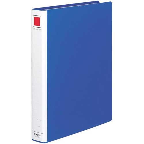 コクヨ チューブファイル<エコ>青A4縦背幅45mm30冊