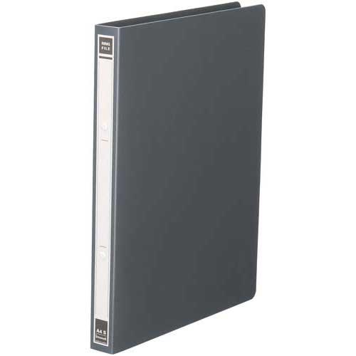 カウネット リングファイルPP 黒A4タテ 背幅27mm60冊