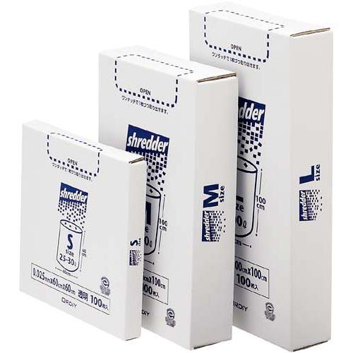 商品合計金額3000円 税込 以上送料無料 オルディ シュレッダー用ポリ袋 小 S 透明 BOX 100P 100枚 Shredder 大人気! セール