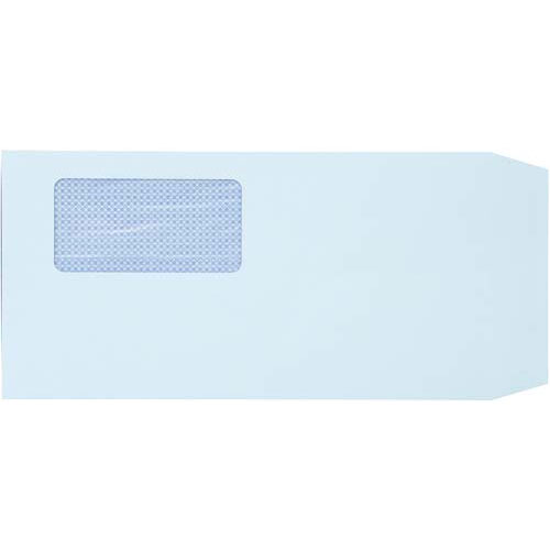 キングコーポレション 地紋入窓付封筒 長3 ブルー 80g 1000枚入