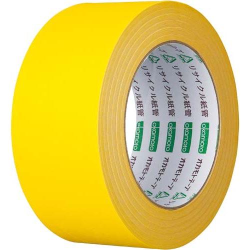オカモト カラークラフトテープ 224WC 黄 50巻関連ワード【ガムテープ 梱包テープ 梱包用】