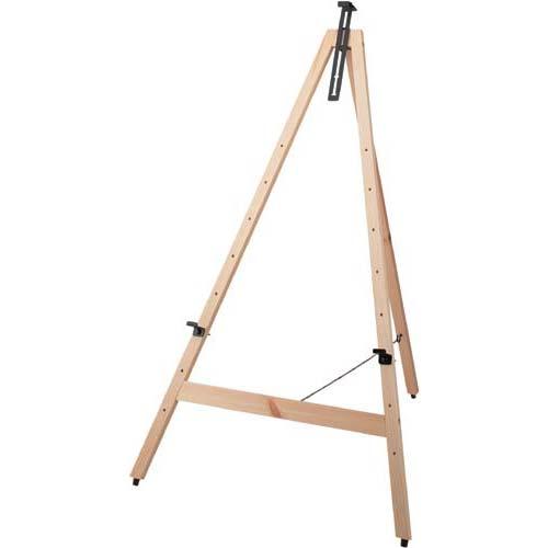 カウネット 木製イーゼル H1160 ナチュラル 4台 | 画架 店舗用 業務用 看板 スタンド おしゃれ 入口 黒板 ブラックボード カフェ メニュー カウモール