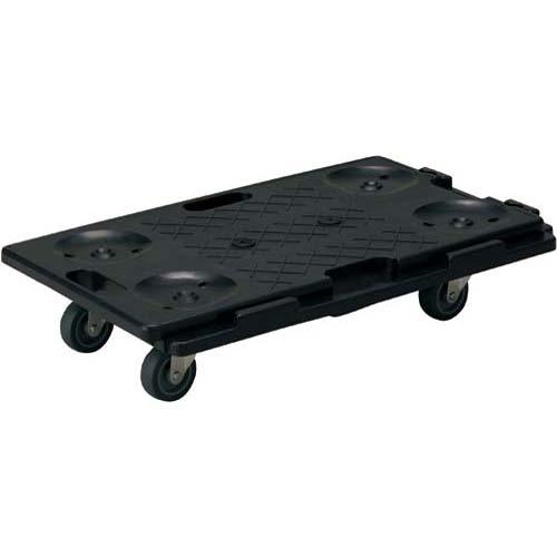 金沢車輌 連結静音樹脂台車 ブラック 150kg 3台