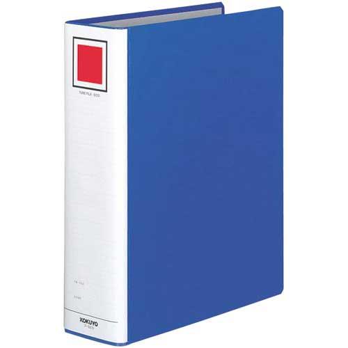 コクヨ チューブファイル<エコ>青A4縦背幅85mm20冊
