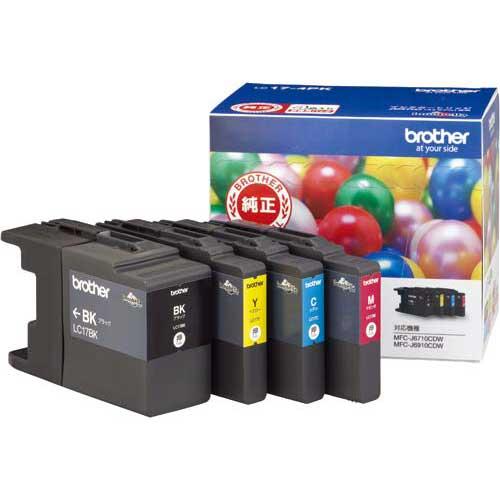 ブラザー 純正インク大容量 LC17-4PK 4色×2セット