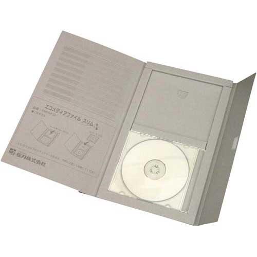 桜井 エコメディアファイル スリム A4 グレー 25冊