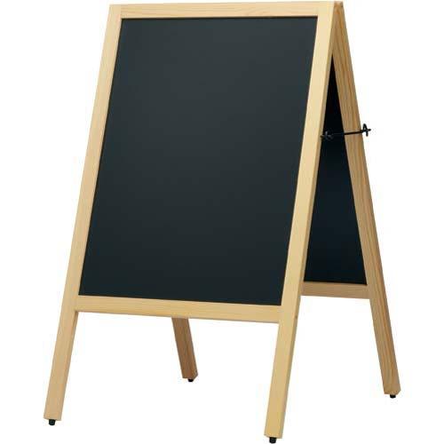 カウネット A型スタンド黒板 ナチュラル 幅500×4台   ブラックボード ぶらっくぼーど 店舗用品 業務用 カフェ ディスプレイ ディスプレー メニュー メニューボード カウモール