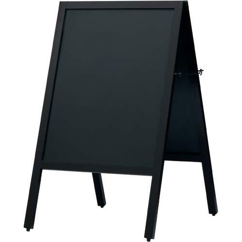 カウネット A型スタンド黒板 ダークブラウン 幅500×4台 | ブラックボード ぶらっくぼーど 店舗用品 業務用 カフェ ディスプレイ ディスプレー メニュー メニューボード カウモール