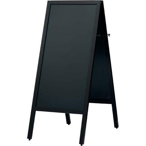 カウネット A型スタンド黒板スリム ダークブラウン幅450×4 | ブラックボード ぶらっくぼーど 店舗用品 業務用 カフェ ディスプレイ ディスプレー メニュー メニューボード カウモール