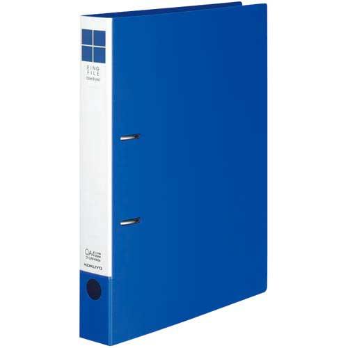 コクヨ リングファイルスリムスタイル青A4縦背幅42mm30冊