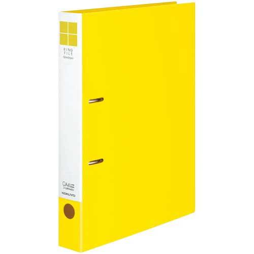 コクヨ リングファイルスリムスタイル黄A4縦背幅42mm30冊