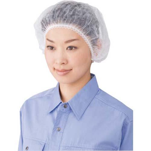 川西工業 不織布使い捨てヘアキャップ100枚 ホワイト×20