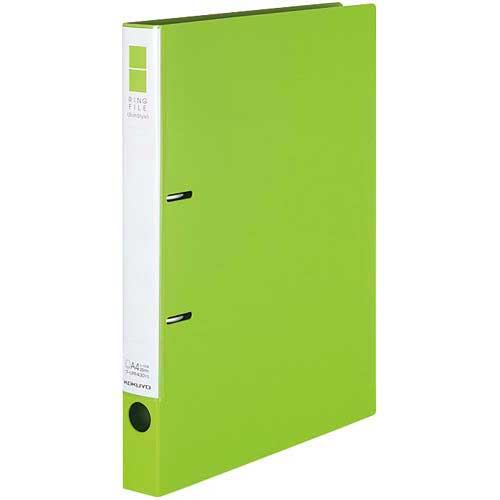 コクヨ リングファイルスリムスタイル黄緑A4縦背幅33mm30冊