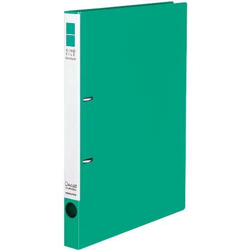 コクヨ リングファイルスリムスタイル緑A4縦背幅27mm30冊