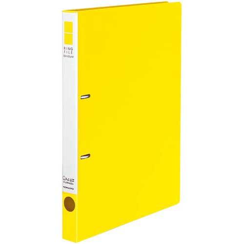 コクヨ リングファイルスリムスタイル黄A4縦背幅27mm30冊