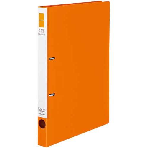 コクヨ リングファイルスリムスタイル橙A4縦背幅27mm30冊