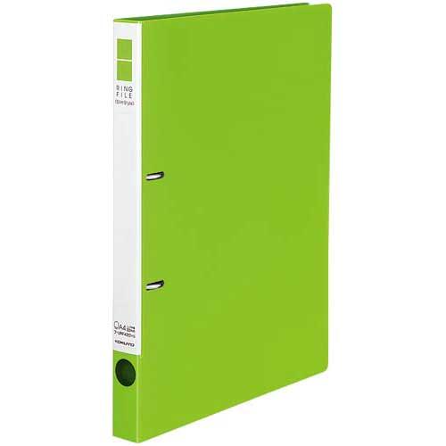 コクヨ リングファイルスリムスタイル黄緑A4縦背幅27mm30冊