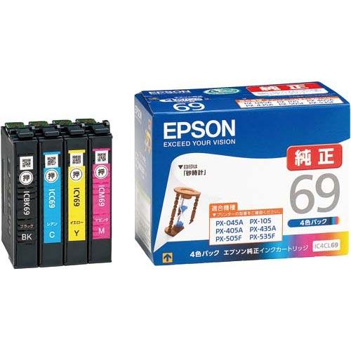 エプソン 純正インク IC4CL69 4色パック 3個